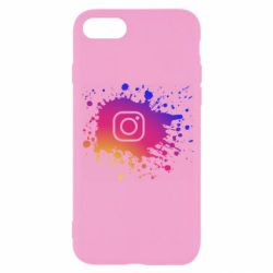Чехол для iPhone SE 2020 Instagram spray