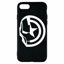 Чохол для iPhone SE 2020 Iron Man and Captain America