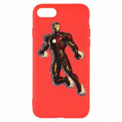 Чехол для iPhone SE 2020 Iron man with the shadow of the lines