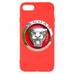 Чехол для iPhone SE 2020 Jaguar emblem
