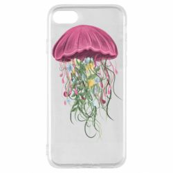 Чехол для iPhone SE 2020 Jellyfish and flowers