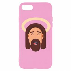 Чехол для iPhone SE 2020 Jesus flat vector