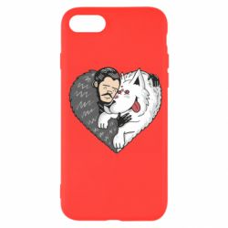 Чохол для iPhone SE 2020 John snow and a wolf named ghost