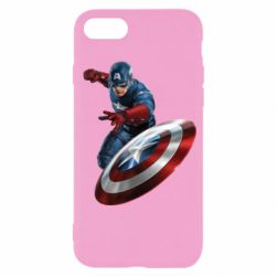 Чехол для iPhone SE 2020 Капитан Америка