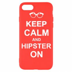 Чехол для iPhone SE 2020 Keep calm an hipster on
