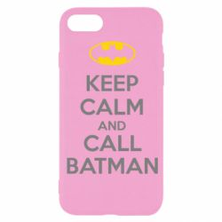 Чехол для iPhone SE 2020 KEEP CALM and CALL BATMAN
