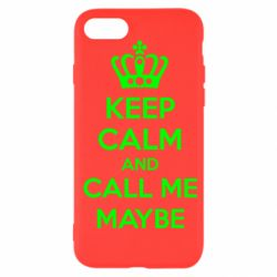 Чехол для iPhone SE 2020 KEEP CALM and CALL ME MAYBE