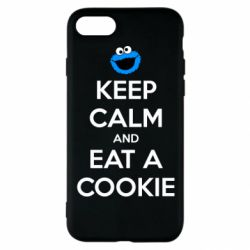 Чехол для iPhone SE 2020 Keep Calm and Eat a cookie