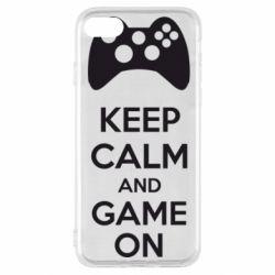 Чехол для iPhone SE 2020 KEEP CALM and GAME ON