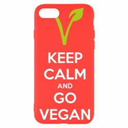 Чехол для iPhone SE 2020 Keep calm and go vegan