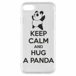 Чохол для iPhone SE 2020 KEEP CALM and HUG A PANDA