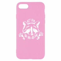 Чохол для iPhone SE 2020 Keep calm and hug a raccoon