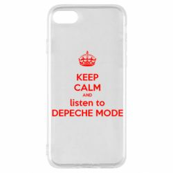 Чехол для iPhone SE 2020 KEEP CALM and LISTEN to DEPECHE MODE