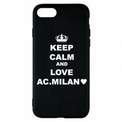 Чохол для iPhone SE 2020 Keep calm and love AC Milan