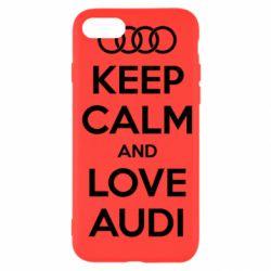Чехол для iPhone SE 2020 Keep Calm and Love Audi