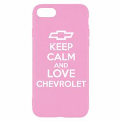 Чохол для iPhone SE 2020 KEEP CALM AND LOVE CHEVROLET