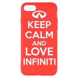 Чехол для iPhone SE 2020 KEEP CALM and LOVE INFINITI