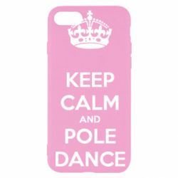 Чехол для iPhone SE 2020 KEEP CALM and pole dance