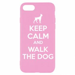 Чохол для iPhone SE 2020 KEEP CALM and WALK THE DOG