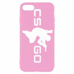 Чехол для iPhone SE 2020 Контр Страйк, логотип и игрок