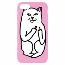 Чехол для iPhone SE 2020 Кот с факом
