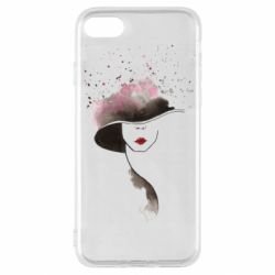 Чехол для iPhone SE 2020 Lady in a hat