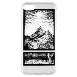 Чохол для iPhone SE 2020 Landscape mountains drawing