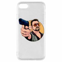 Чохол для iPhone SE 2020 Лебовськи з пістолетом