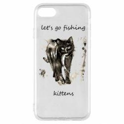 Чехол для iPhone SE 2020 Let's go fishing  kittens