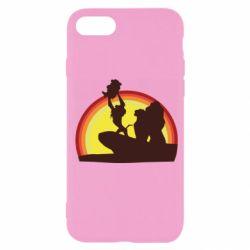 Чехол для iPhone SE 2020 Lion king silhouette