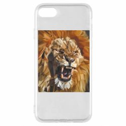 Чохол для iPhone SE 2020 Lion roars low poly style