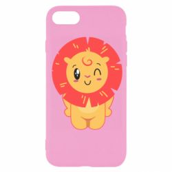Чехол для iPhone SE 2020 Lion with orange mane