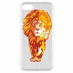 Чохол для iPhone SE 2020 Lion yellow and red
