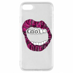 Чохол для iPhone SE 2020 Lips with the words cool