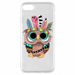 Чохол для iPhone SE 2020 Little owl with feathers