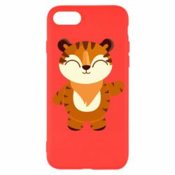 Чехол для iPhone SE 2020 Little tiger with a smile