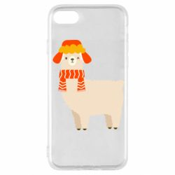 Чехол для iPhone SE 2020 Llama and winter