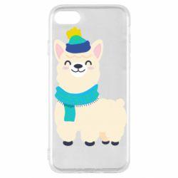 Чехол для iPhone SE 2020 Llama in a blue hat