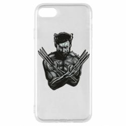 Чехол для iPhone SE 2020 Logan Wolverine vector