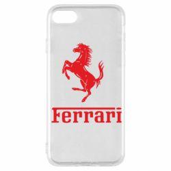 Чехол для iPhone SE 2020 логотип Ferrari