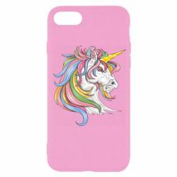Чохол для iPhone SE 2020 Кінь з кольоровою гривою