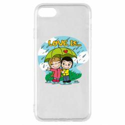 Чохол для iPhone SE 2020 Love is ... in the rain