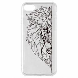 Чохол для iPhone SE 2020 Low poly lion head