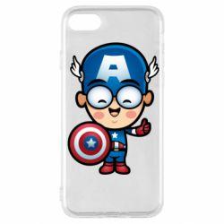 Чехол для iPhone SE 2020 Маленький Капитан Америка