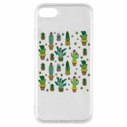 Чехол для iPhone SE 2020 Many cacti