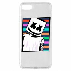 Чехол для iPhone SE 2020 Marshmello Colorful Portrait