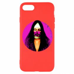 Чехол для iPhone SE 2020 Masked nun
