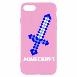 Чехол для iPhone SE 2020 Меч Minecraft