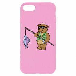 Чохол для iPhone SE 2020 Ведмідь ловить рибу