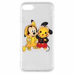 Чехол для iPhone SE 2020 Mickey and Pikachu